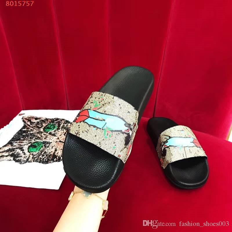 2018 nova mulher Impresso chinelo animal, Verão Flip Flops Design de Moda flip-flops de alta qualidade Diferente chinelo colos