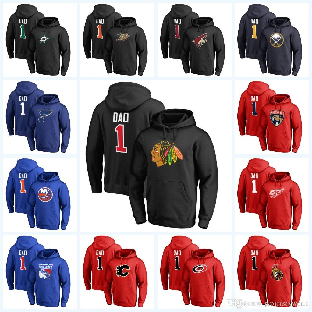 best service a6234 1399f 1 DAD Pullover Hoodie Chicago Blackhawks Dallas Stars New York Islanders  Anaheim Ducks Carolina Hurricanes Florida Panthers Sweatshirts