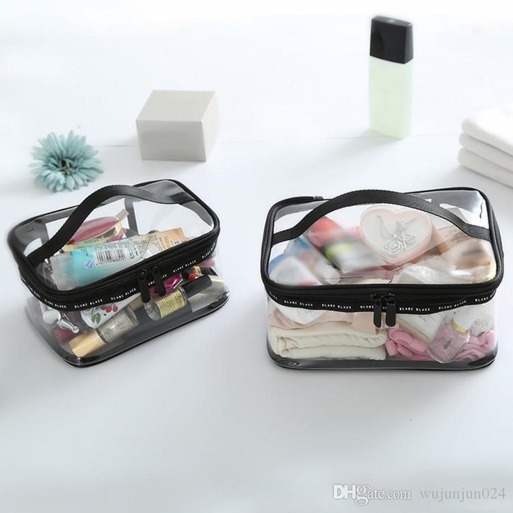 PVC Transparent Cosmetic Bags Women's travel Waterproof Clear Wash Organizer Pouch Beauty Makeup Case Accessories Supplies