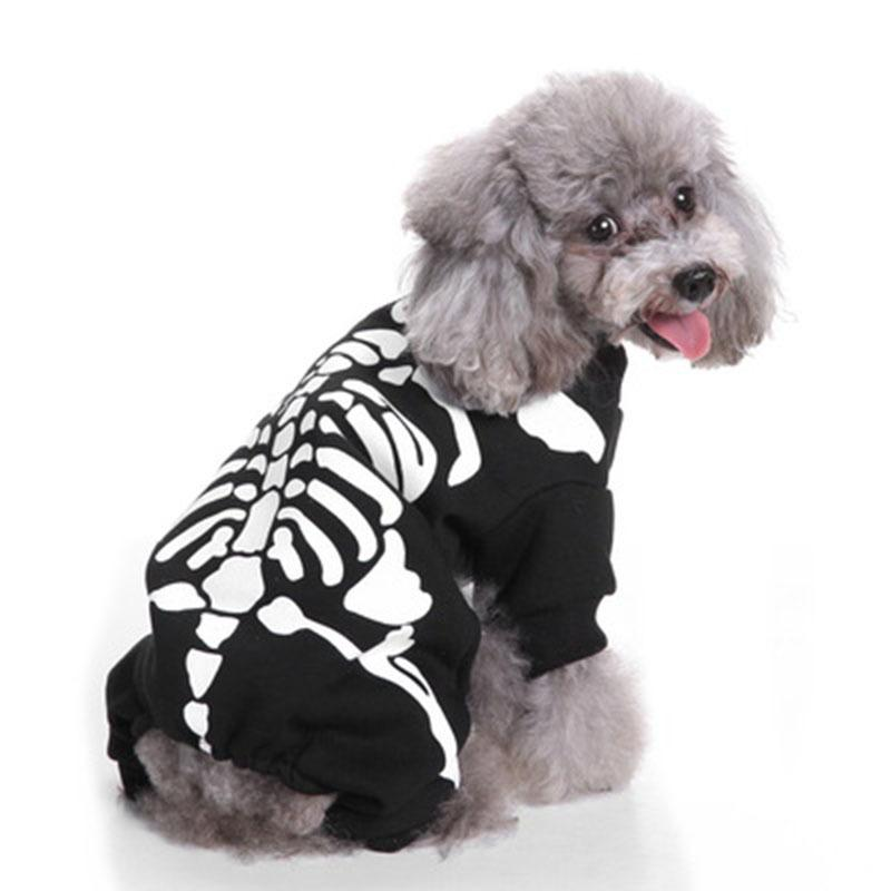 2019 Funny Bone Printed Dog Shirt For Small Dogs Pet Jacket Cute Dog