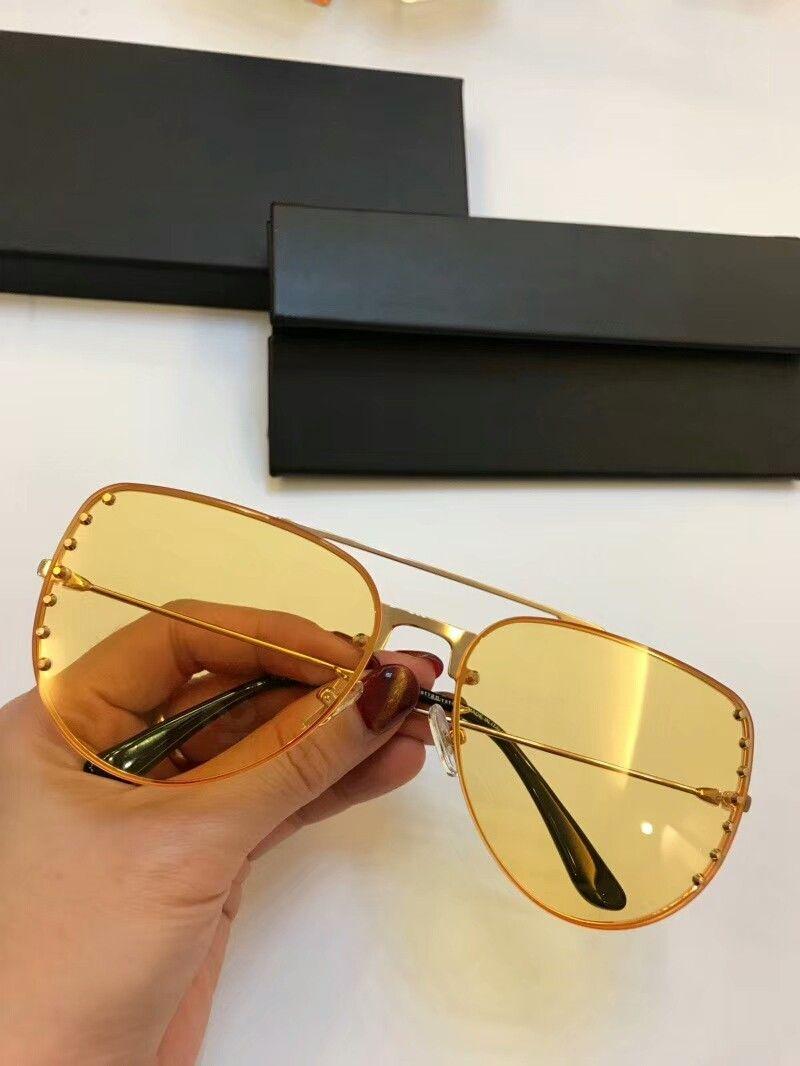 Nuevos vanguardista de la moda de los hombres gafas de sol de las gafas de sol para hombre simples mujeres populares gafas de sol al aire libre de la protección de verano UV400 gafas al por mayor con el caso