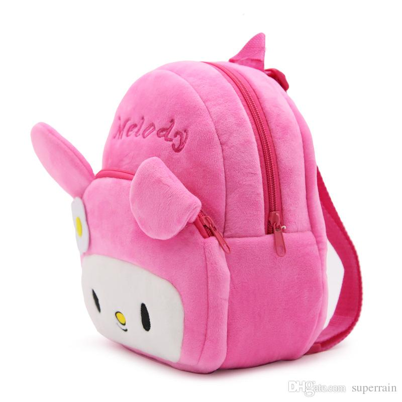 9fe756b86f Infant Cute School Bags Baby Kids Cartoon Rabbit Melody Plush Backpack  Preschool Children Schoolbag For Kindergarten Girls Bags Wholesale Bags  School Bags ...