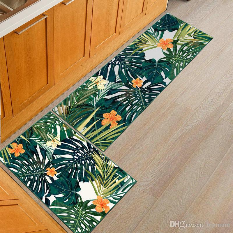 현대 부엌 바닥 3D 인쇄 자연 비 슬립 매트 문 매트 침실 매트 화장실 카펫 어린이 룸 카펫 Manchine Washable