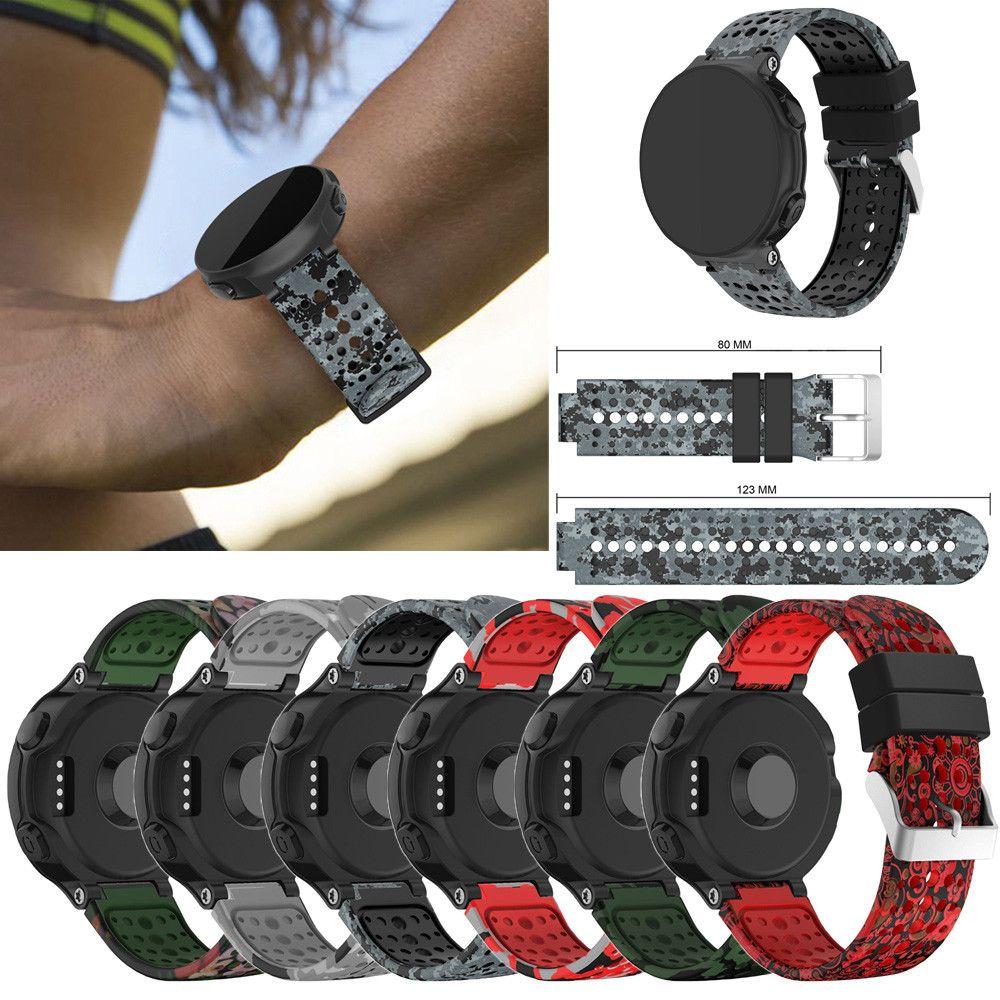 ca4b5f7be39f Banda de reloj para Garmin Forerunner 235 GPS Watch Reemplazo de silicona  Soft Band Strap para Garmin Forerunner 235 GPS A.16