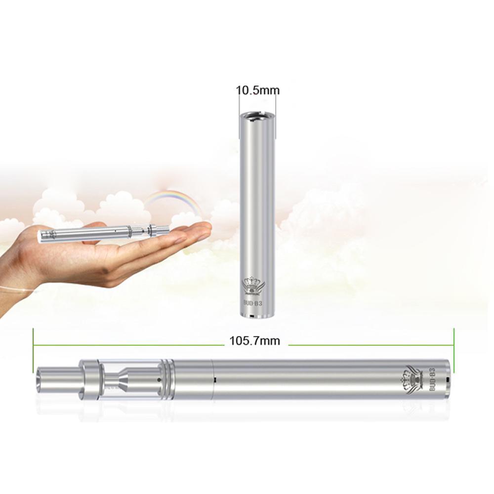 100% autentico BUD B3 + V3 kit di avvio ecig batteria ricaricabile 290 mAh. 5 ml di ceramica bobina di riscaldamento atomizzatore di vetro penna vape sigaretta elettronica