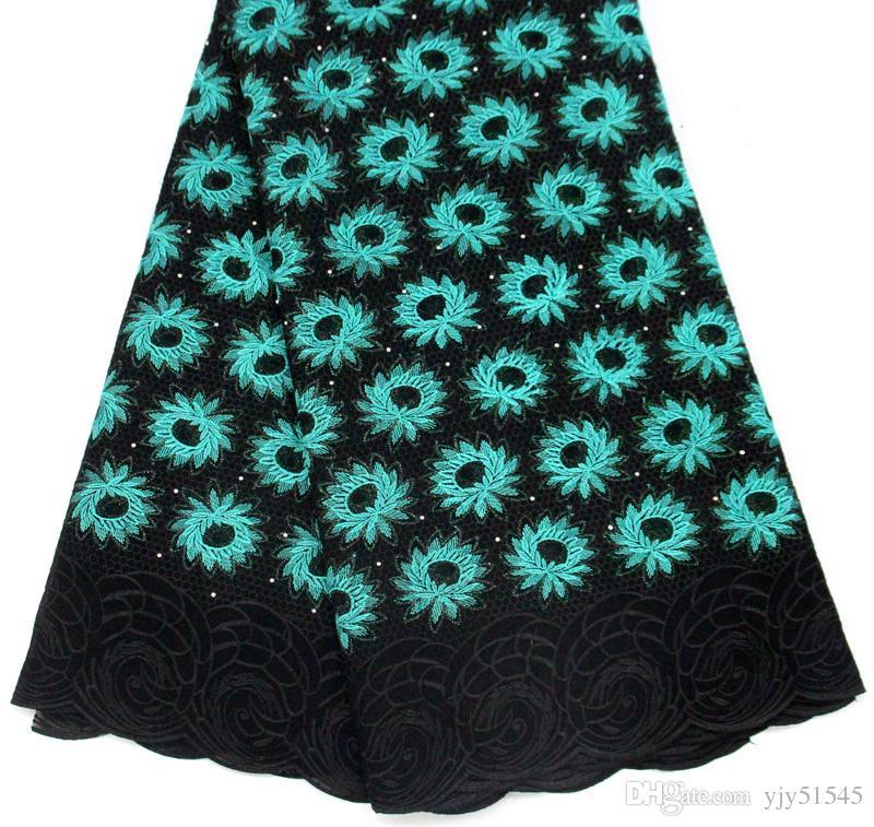 DOY1033 Neu kommen afrikanische Spitze Stoff hohe Qualität Französisch Spitze Stoff mit Steinen Nigerianischen Hochzeitskleid 5 Yards für Kleidung
