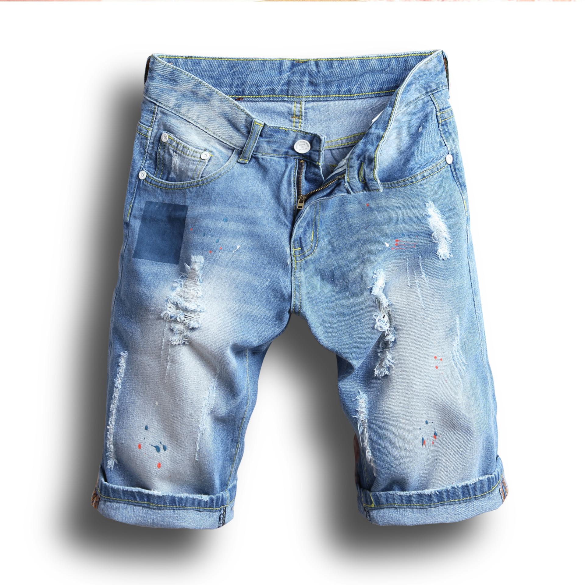 17abb0a84f788b 2019 Summer Fashion Men Jeans Shorts Cotton Denim Ripped Shorts Brand  Designer Casual Short Jeans Men Plus Size From Xunmi, $19.29 | DHgate.Com
