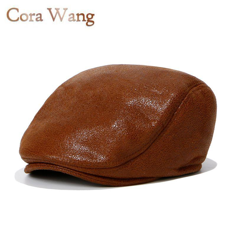 2019 Leather Newsboy Hat For Mens Womens Duckbill Cap Ivy Cap Sun Flat  Cabbie Newsboy Hat Unisex Berets Fashion Russia From Zhijin af65b72eafe