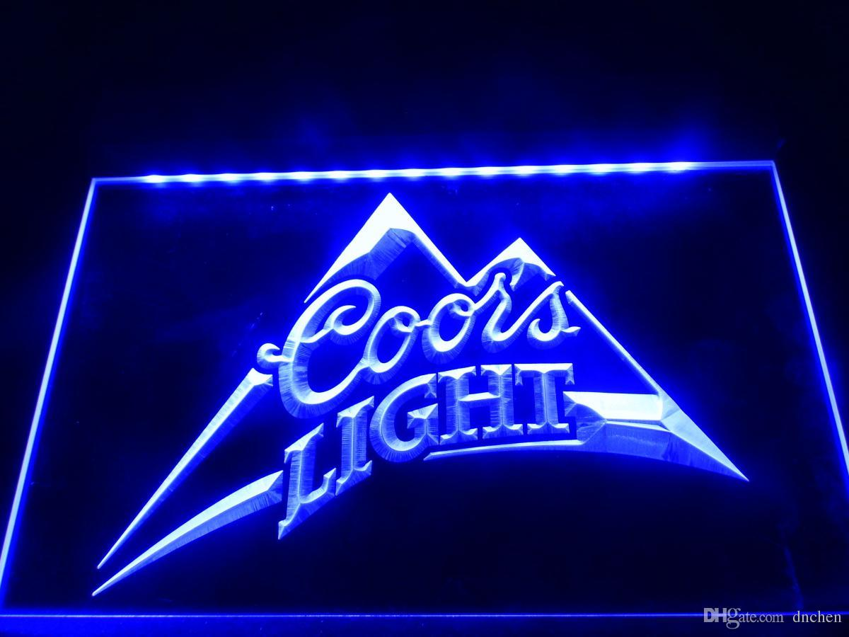 LA004b Coors Light Beer Bar Pub Logo Neon Light Sign Rgb