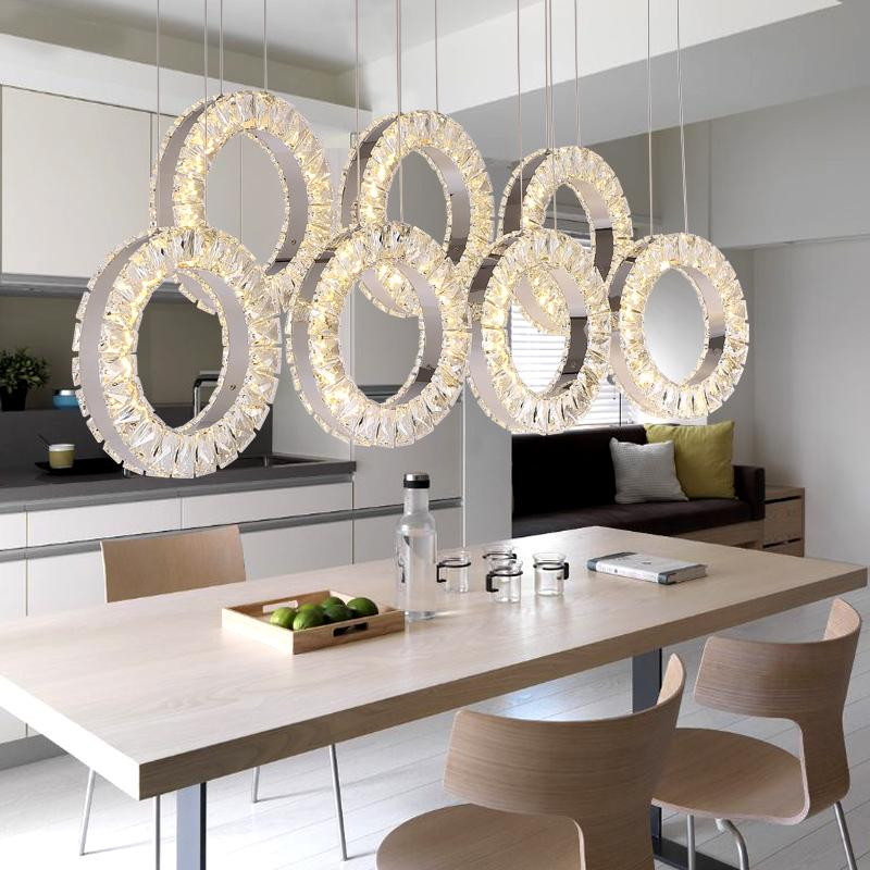 2019 Restaurant Crystal Chandelier Table Three Rectangular Simple Modern Dining Room Fashion Bar LED Lighting Lamps From Callaway