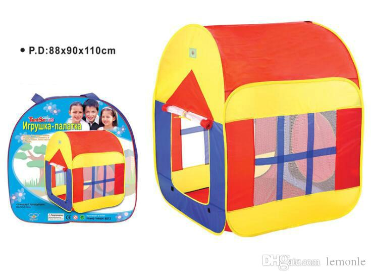 Casa di gioco bambini portatile che gioca casa di tenda pieghevole pieghevole pop-up respiro che gioca casa segreta bambini 20 pezzi