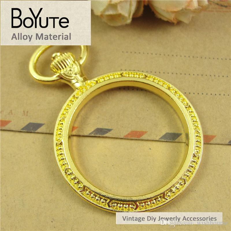BoYuTe  30MM Cabochon Base Vintage Frame Zinc Alloy Watchcase Blank Bezel Pendant Charms for Jewelry Making Diy Necklace