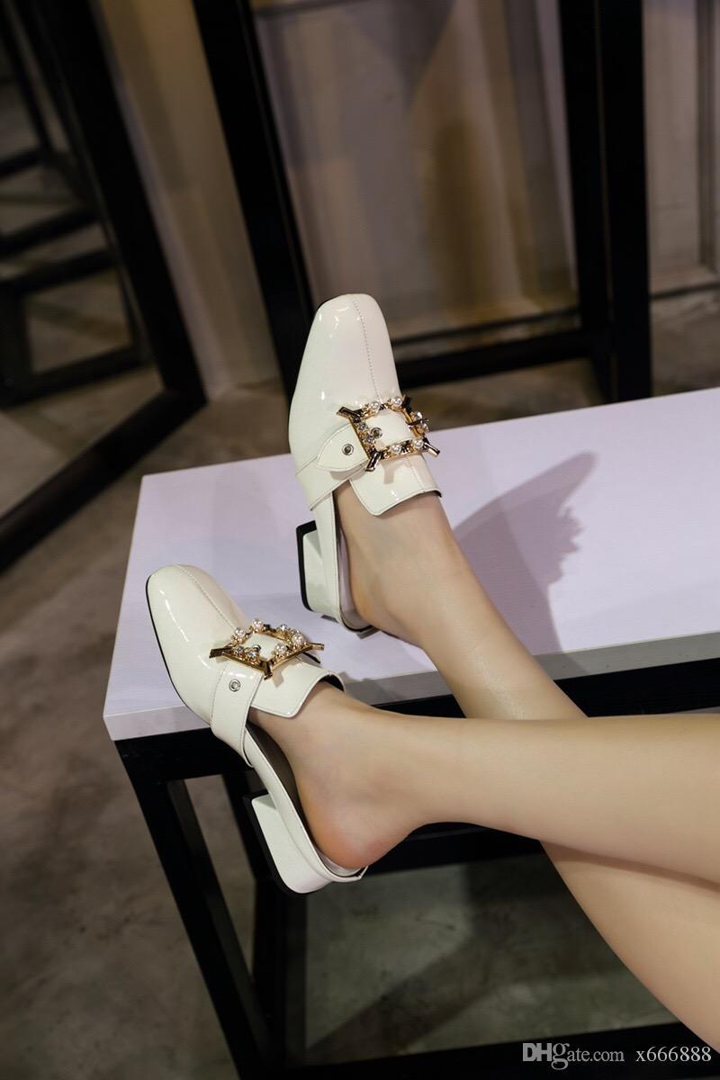 newest 996eb ce8ca Sommer Neue Luxus Flip-Flops Hohe Qualität Naturleder Frauen Sandalen Mode  Marke Wohnungen Schuhe Damen Hausschuhe Größe 34-44