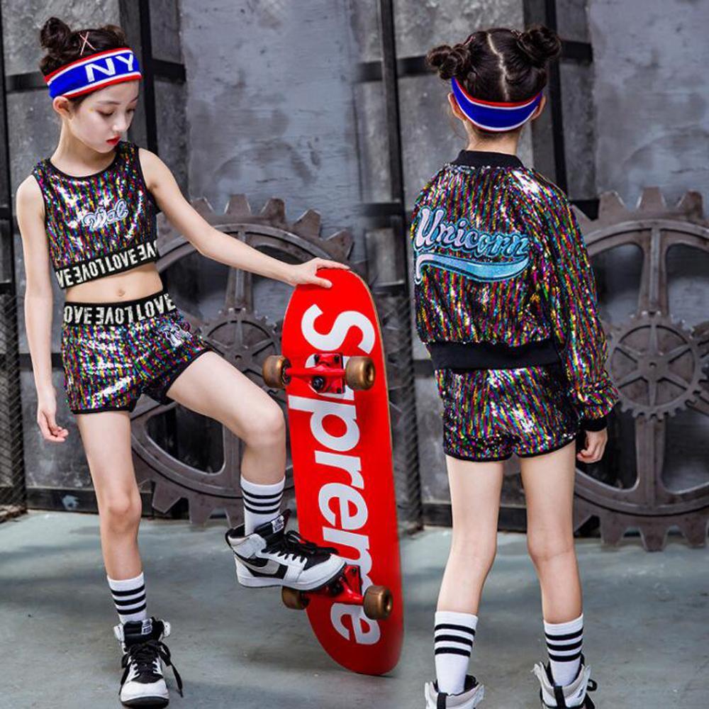 Acquista Costume Da Ballo Ballerine Hip Hop Jazz Con Paillettes Bambina A   26.73 Dal Ingridea  dbc991408eaa