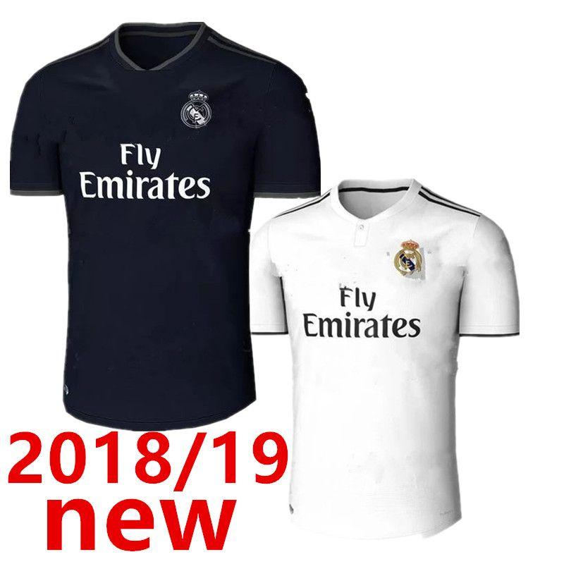 67a68cbe252 New 2018 Real Madrid Soccer Jersey18/19 RONALDO Home White Away ...