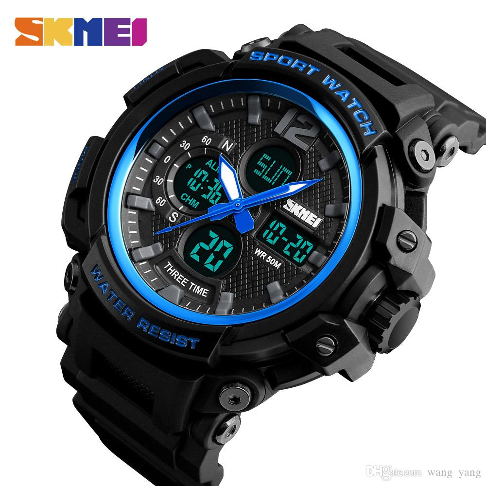 Smart Skmei New Top Luxury Watch Men Brand Mens Watches Fashion Casual Outdoor Sports Clock Men Led Electronic Wrist Watches Watches