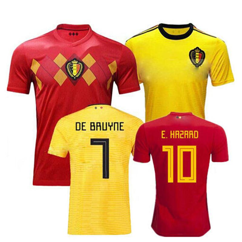 low priced 4e25d 4da5e 2018 2019 adults Belgium shirts Best Quality adult shirt E.HAZARD MERTENS  DE BRUYNE R.LUKAKU Casual men T-shirt free shipping