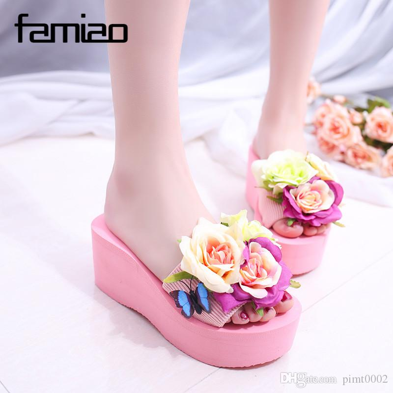 31d081950bdb83 Summer Women Mules Clogs Wedge Sandals Garden Shoes Handmade ...