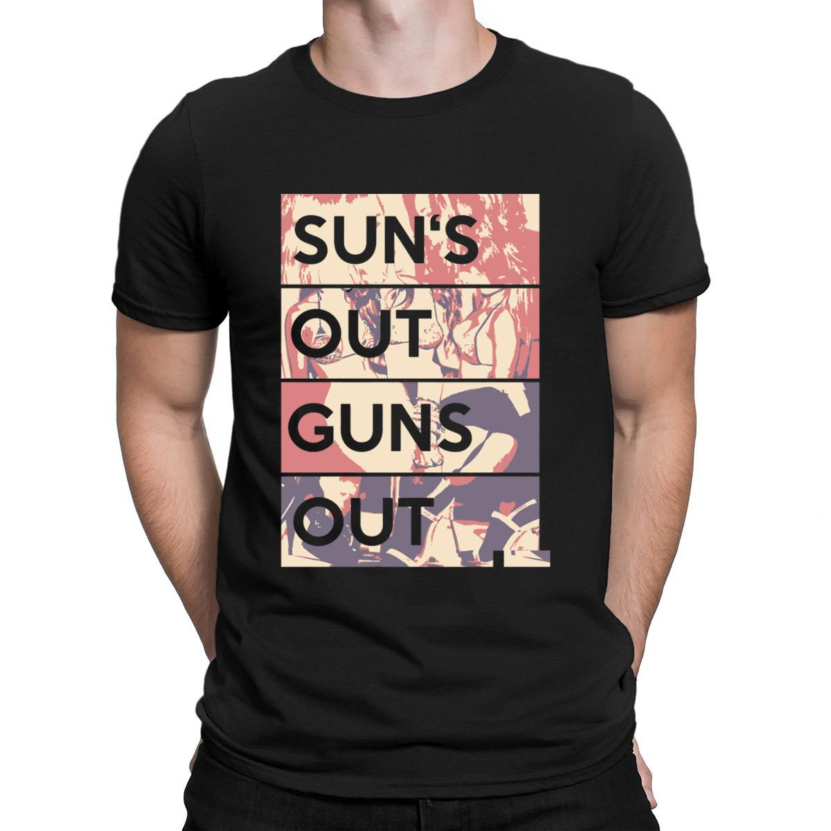 Gun Sun Out Guns Out T-Shirts Costume Branded Personaliza 2018 T Shirt For Men New Fashion Hot Sale Manga corta Anlarach Novedad