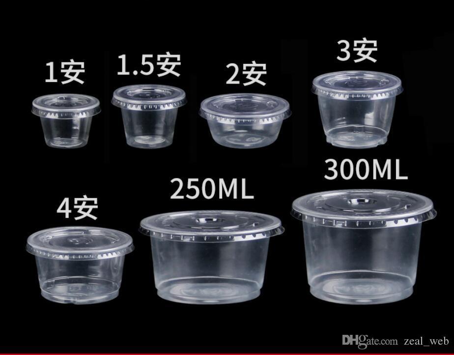 df28f6515e8 Disposable Plastic Portion Cups Souffle Cup with Lids Condiment Cup, Jello  Shot 1oz 1.5oz 2oz 4oz
