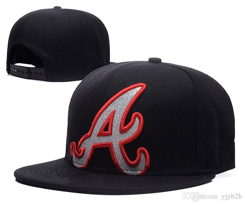 High Quality Full Black Baves Snapback Hat For Men Classic Letter A  Embroidered Team Logo Bones Sports Baseball Flat Caps Hip Hop Chapeus  Baseball Snapback ... 17f58ab8a
