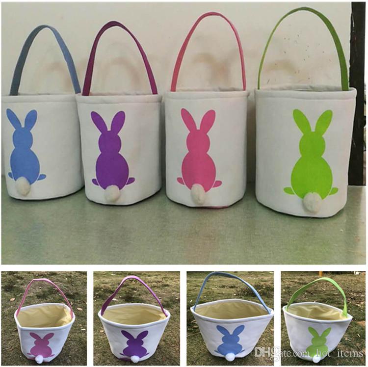 Großhandel Leinwand Ostern Korb Diy Kaninchen Taschen Bunny ...