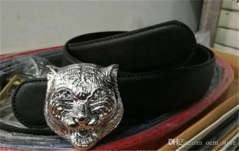 2018 Belt High Quality Brand Designer Belts Luxury Fashion Belts for Men Copper G Type Tiger Head Belt Men And Women Waist Cowhide Belt