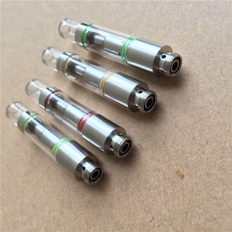 Recharges de cigarettes électroniques 510 vaporisateur d'huile atomiseur verre cuve cuve en céramique bobine .5ml vide épais cartouche d'huile