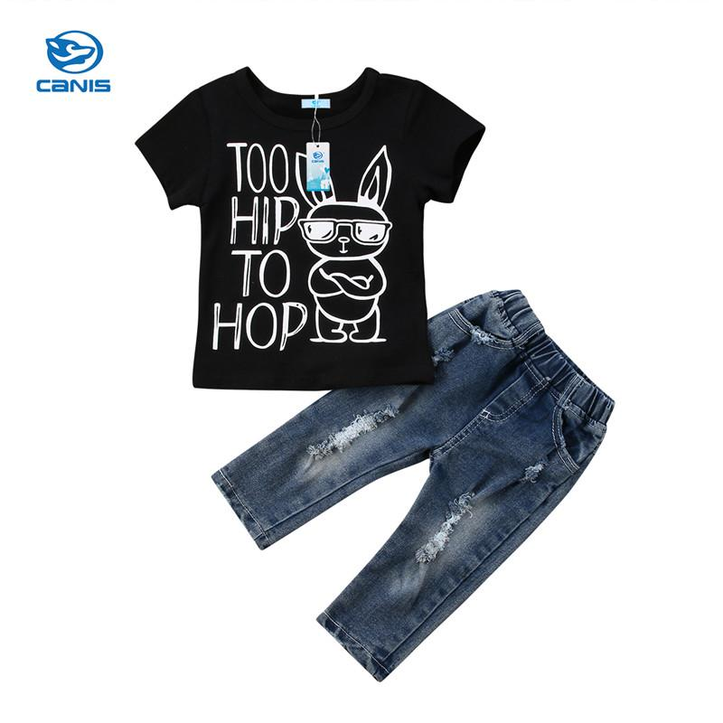 3eb7bcfdef9fc 2019 Cool Girls Clothing Set Toddler Kids Baby Girls Letter Cartoon ...