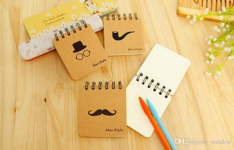 * Retro Design Men Style loose-leaf Memo Pads Coil Book Portable Pocket Notebook Diary Notepad, Size 10*8.5cm