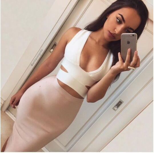 Sexy selfie nude woman skirt