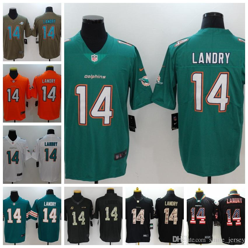 2019 New Mens 14 Jarvis Landry Miami Jersey Dolphins Football Jersey ... bdf0a7f3d