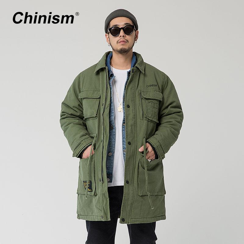 c9c04c41bd8 2019 Wholesale CHINISM Long Army Green Trench Coat Mens Stylish Fashion  Turn Down Collar Loose Casual Overcoat Men 2017 New Brand Trench Jacket  From Baiqian ...