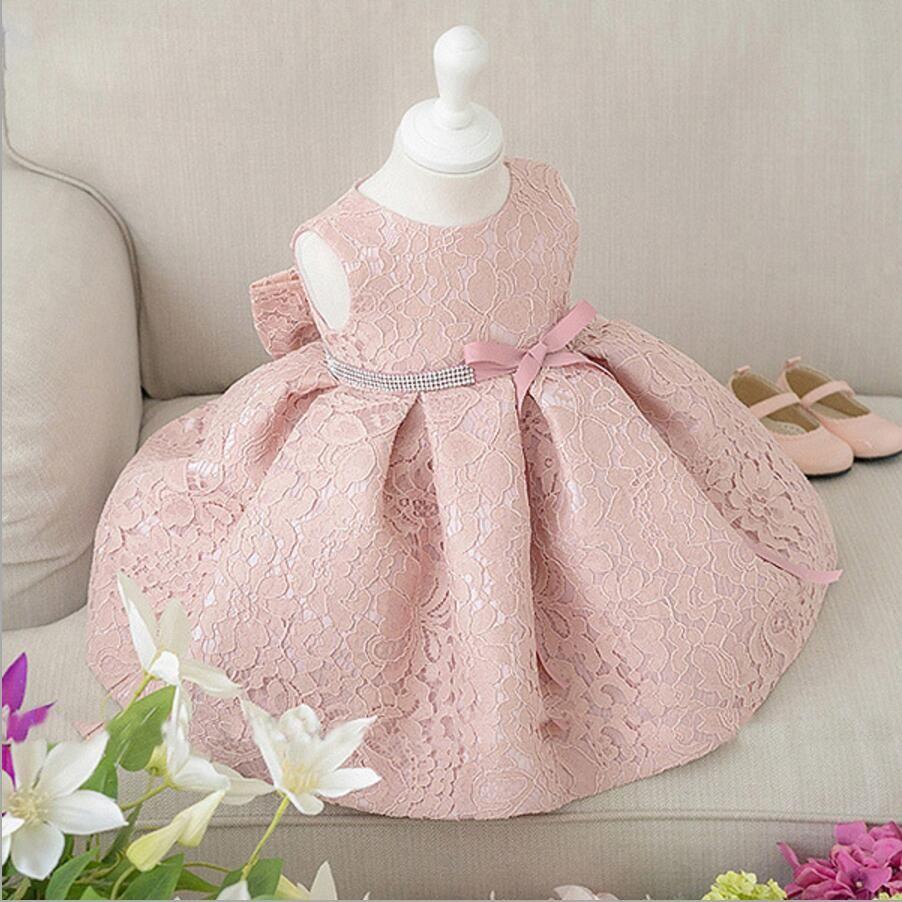 2019 Newborn Baby Girl Dresses With Cap Super Back Bow Diamand Belt Baby  Christening Gowns 1 Year Birthday Dress Vestido Infantil From Heathera 85356ae5e81c