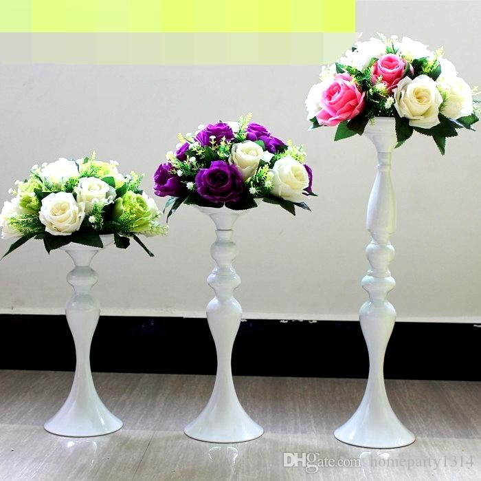 32 centímetros / 38 centímetros / 50 centímetros de casamento vaso de flor castiçal casa festa ainda Candlestick Estrada Chumbo cremalheira flor Candelabra centrepieces