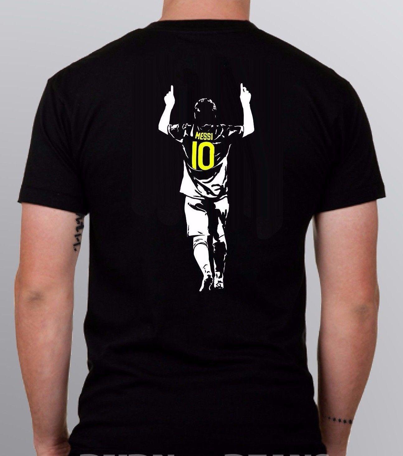 3f4f475ed9 Compre Messi Camiseta Lionel 10 Argentina Barcelona Futebol S 5XL + CRIANÇAS  TAMANHOS! De Unrestrainedtshirts