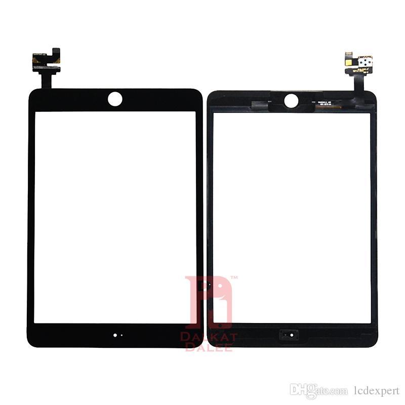iPad mini 3의 경우 홈 버튼 터치 스크린 터치 패널이없는 IC 접착식 전체 조립품으로 전면 스크린 디지타이저 유리 교체