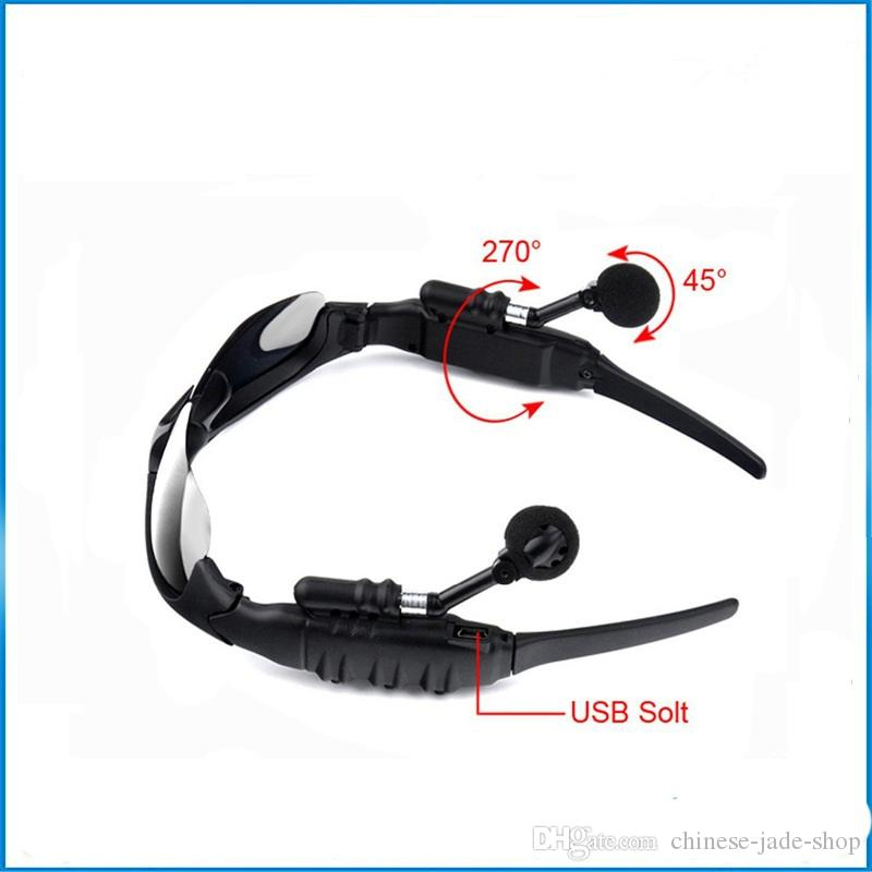 V4.1 Wireless Bluetooth Outdoor Sunglasses Sun Glasses Stereo Handsfree Headset Earphones Earbuds for smart phone in retail SM02D /lo