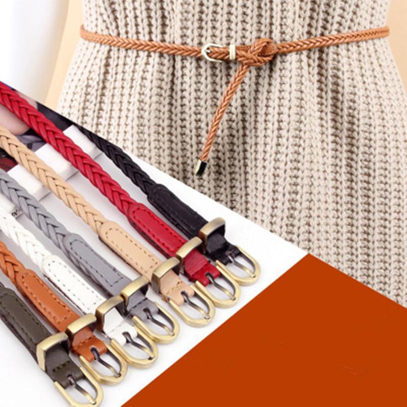 Compre Cinturones De Las Mujeres Retro Cinturón Tejido De Las Señoras De  Cintura Femenina Pin Hebilla Cinturón Trenzado Casual Cintura Delgada  Cuerdas A ... 30be3177c311
