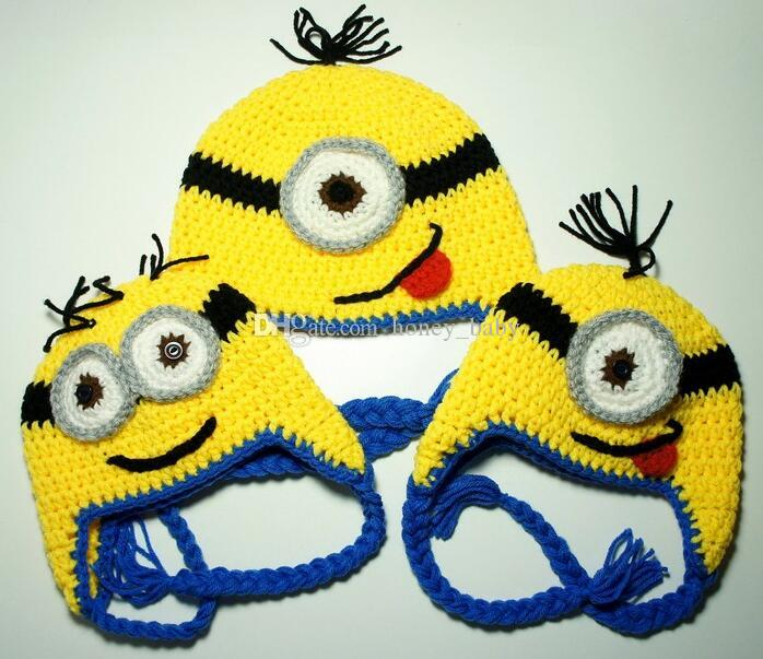2019 Christmas Gifts Despicableme Crochet Knitted Hats Caps Newborn