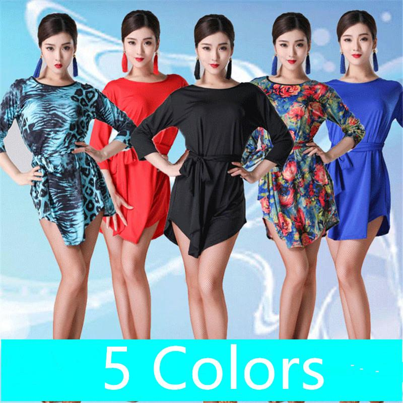 a25c43a20964 2019 New Sexy Latin Dance Dress Women Fashion Style Blue Salsa Tango  Dresses Lady Rumba Flamenco Competition Dance Costumes From Pamele, $52.31  | DHgate.Com