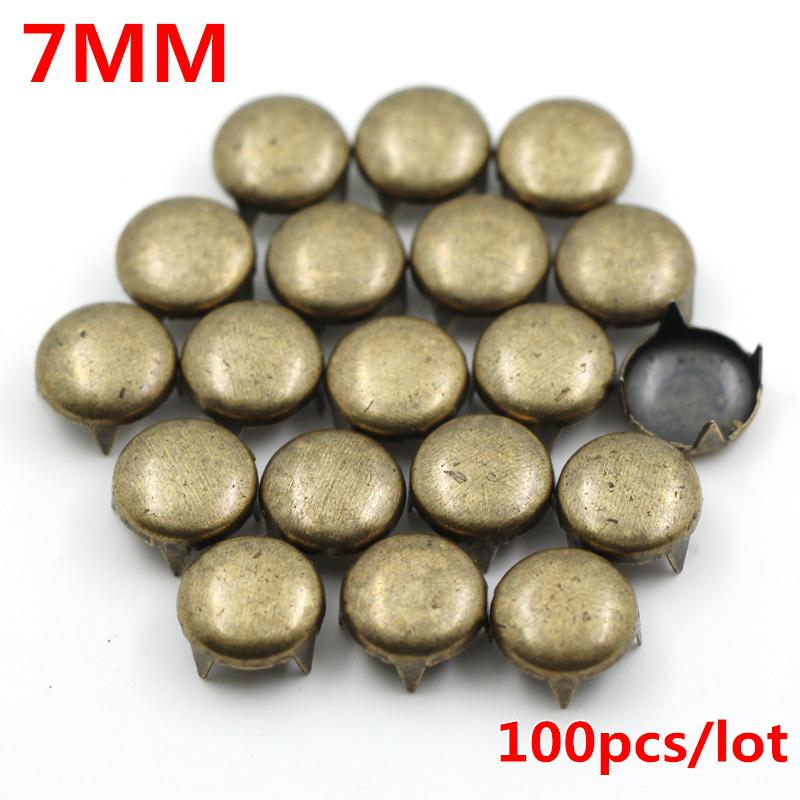 7MM Round Garment Rivets Punk Metal Pyramid Studs rivets for leather Spikes For Clothes