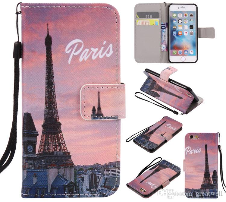 Eiffel Tower Tiger Dont Touch My Phone Flip Wallet Stand Card PU Leather case for iphone X XS Max XR 8 7 6 6S Plus 5S Samsung S8 S9 Plus