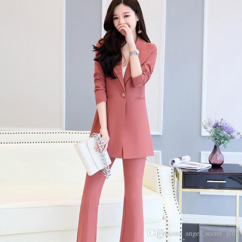 39a1396028c9 Acquista Vestito Di Due Pezzi Del Vestito Lungo Delle Donne Di Alta Qualità  Di Modo Rivestimento + Pantaloni Personalizzazione Del Supporto Del Vestito  ...
