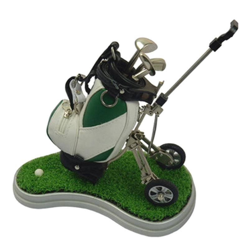 Golf Pens with Golf Bag Holder,Desktop Bag Trolley Pens Holder,Miniature Model Golf Bag Cart Pen Holder on golf cart trophy, forklift pen holder, golf cart tape dispenser, golf cart organizer, golf bag pen holder, golf cart radio, golf cart mugs, golf cart batteries, golf cart keychain, golf cart bags, golf cart tray,
