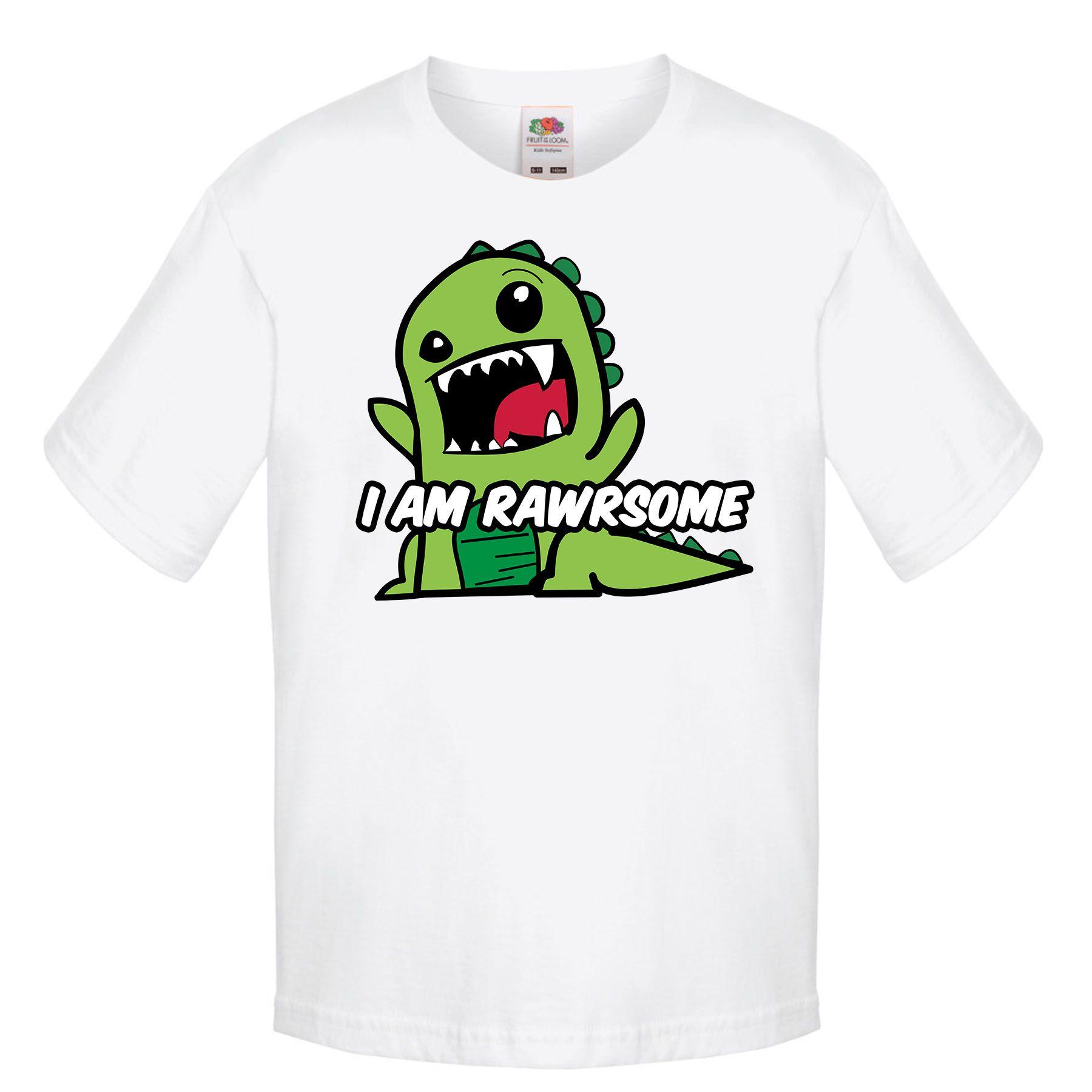 67ae8bd58 I Am Rawrsome Dinosaur T Shirt Funny Boys T Rex Dinosaur Tee Shirt Clothing  L81 Tea Shirts Fun Tshirts From Cozyroam, $24.2| DHgate.Com