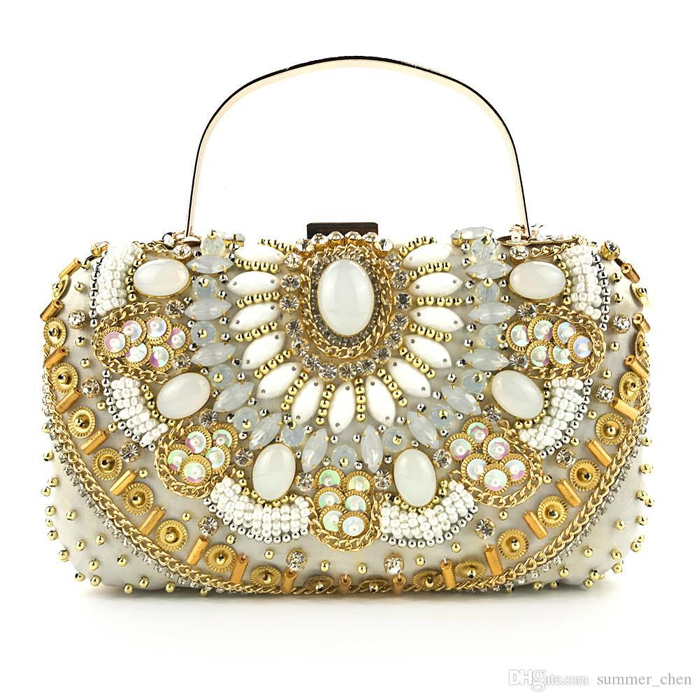 e221c4f7d6 Acquista Pochette Da Sera Con Frange Paillettes Perline Strass Borse Da  Sera Borsa Tracolla Matrimonio Diamonds Lady Purse Mini Evening Bags A  $33.51 Dal ...