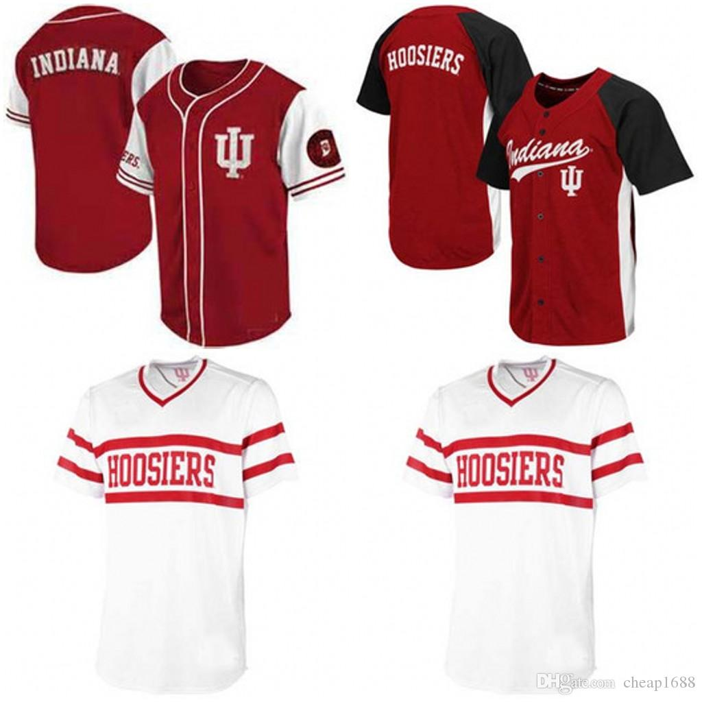 cd49a039f 2019 Custom Indiana Hoosiers NCAA College Baseball Jerseys White Wine Red  Men Women Youth Any Name Any Number Stitched Baseball Jersey S 4XL From  Cheap1688, ...