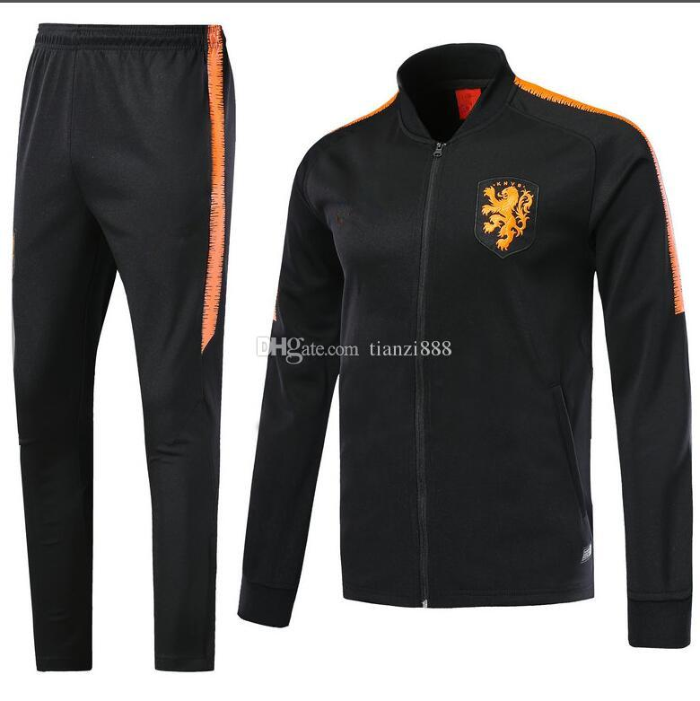 2018 19 Dutch track suit football jacket, sweater1819 season tracksuit  clothes football training suit Free Shipping And Wholesale helan