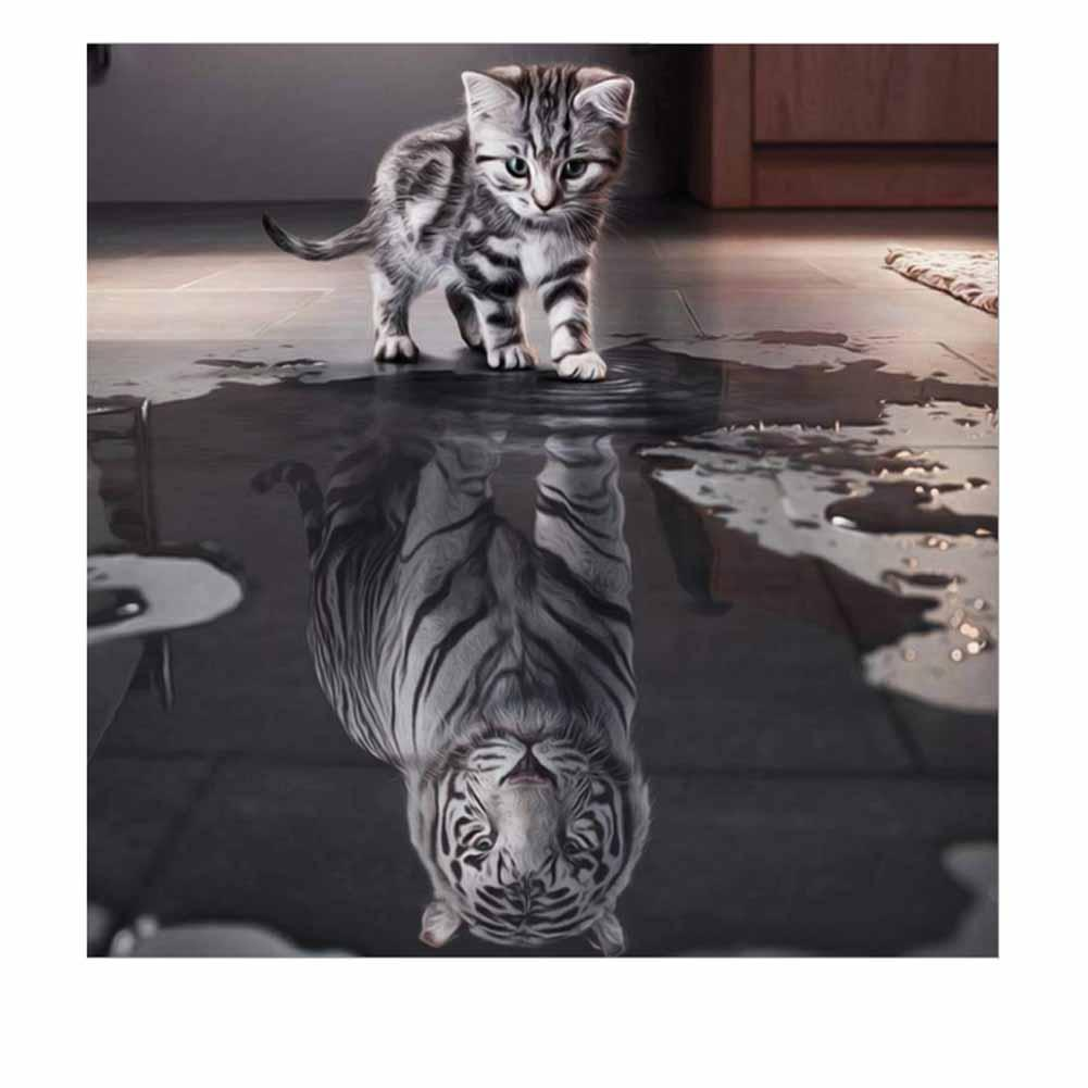 Online Cheap New Handicrafts Cat Reflection Tiger 5d Diy